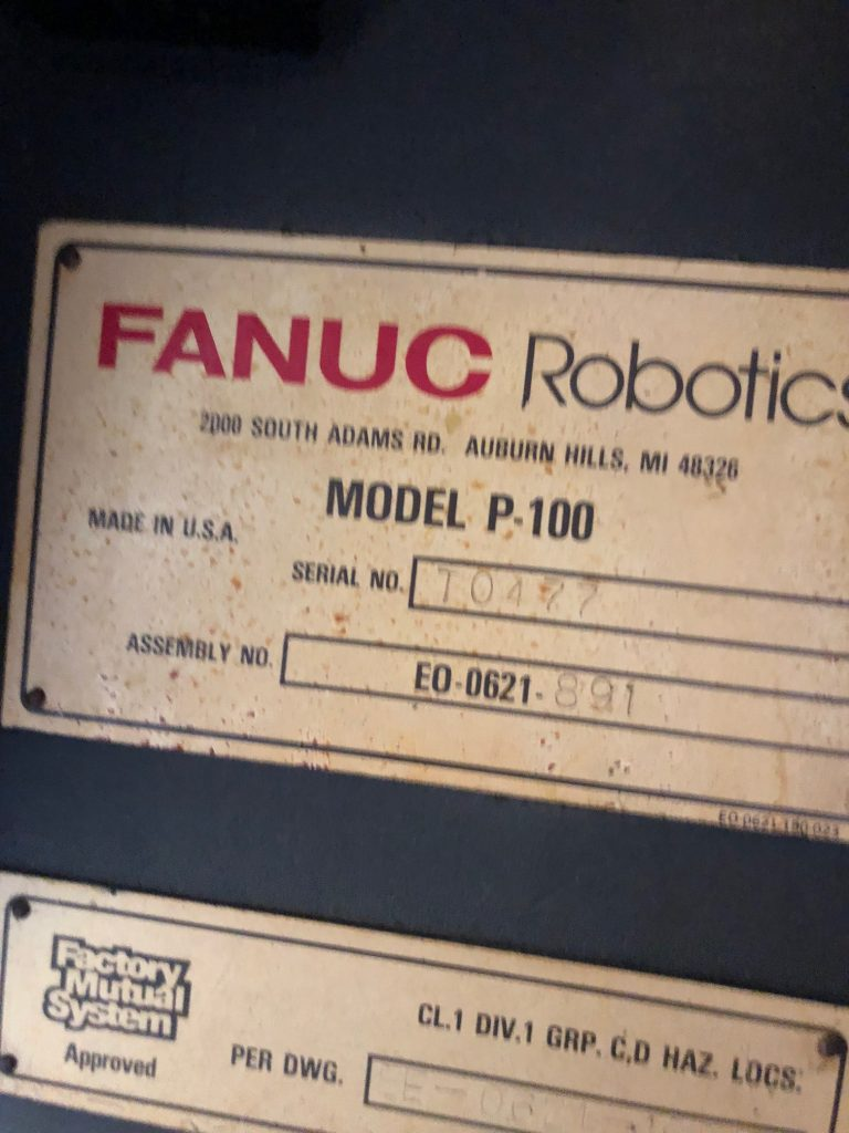 FANUC P-100 level 1 robot w/FANUC System – Industrial Systems by