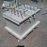 PBC-73: ITW Gema 100/150 lb Powder Coating Hopper w/ 14 Gema Powder Pumps