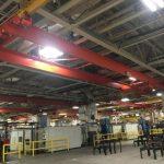 5-Ton, CED / Weco Double Girder Bridge Crane , 58' long Span, Underslung
