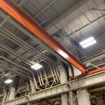 2-Ton, Single Girder Bridge Crane , 76' long Span, Top Running